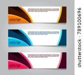 vector design banner background. | Shutterstock .eps vector #789100696
