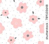 cute floral seamless pattern.... | Shutterstock .eps vector #789103648
