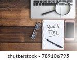 notebook  smartphone ... | Shutterstock . vector #789106795