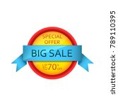 big sale banner design 70   off ...   Shutterstock .eps vector #789110395