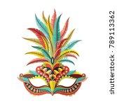 carnival mask. vector... | Shutterstock .eps vector #789113362