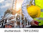 double exposure engineers... | Shutterstock . vector #789115402