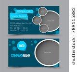 business card template design.... | Shutterstock .eps vector #789115882