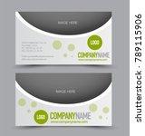 business card template design.... | Shutterstock .eps vector #789115906