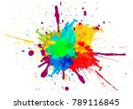 abstract splatter color... | Shutterstock .eps vector #789116845