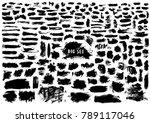 giant set of black brush... | Shutterstock .eps vector #789117046