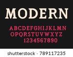 geometric serif font modern... | Shutterstock .eps vector #789117235