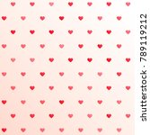 awesome hearts pattern... | Shutterstock .eps vector #789119212