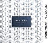 elegant line flower pattern... | Shutterstock .eps vector #789120082