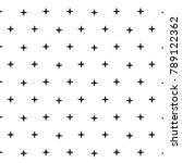 black plus sign pattern... | Shutterstock .eps vector #789122362