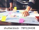 asian business man hand holding ... | Shutterstock . vector #789124438