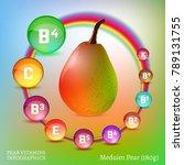 pear vitamine infographic.... | Shutterstock .eps vector #789131755