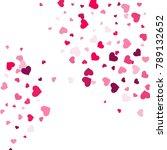 heart confetti beautifully... | Shutterstock .eps vector #789132652