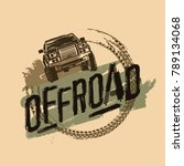 off road logo. extreme... | Shutterstock .eps vector #789134068
