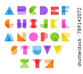 abstract alphabet in color.... | Shutterstock .eps vector #789142072