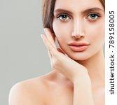 perfect female face closeup....   Shutterstock . vector #789158005