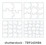 sets of puzzle pieces vector...
