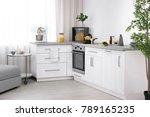 modern kitchen interior with... | Shutterstock . vector #789165235