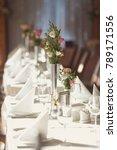 luxury wedding setting table in ...   Shutterstock . vector #789171556