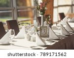 luxury wedding setting table in ... | Shutterstock . vector #789171562