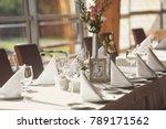 luxury wedding setting table in ...   Shutterstock . vector #789171562