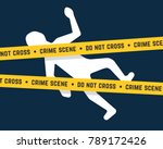 white corpse like crime scene.... | Shutterstock .eps vector #789172426