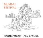 mumbai ganesh utsav | Shutterstock .eps vector #789176056