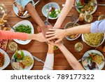 eating and leisure concept  ... | Shutterstock . vector #789177322
