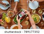 thanksgiving day  eating ... | Shutterstock . vector #789177352