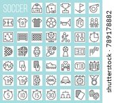 soccer line icons  rules and... | Shutterstock .eps vector #789178882