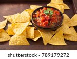 Mexican Salsa Dip And Nachos...