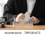 young man working with... | Shutterstock . vector #789181672