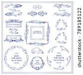 vector sign  symbols for frames ...   Shutterstock .eps vector #789185122
