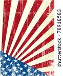 grunge american flag. a grunge... | Shutterstock .eps vector #78918583