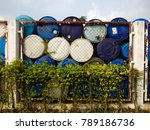 Small photo of 200 liters blue bin plastic,thailand