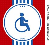 wheelchair handicap icon | Shutterstock .eps vector #789187426