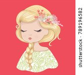 cute girl vector | Shutterstock .eps vector #789196582
