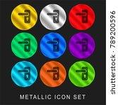 door handle 9 color metallic... | Shutterstock .eps vector #789200596