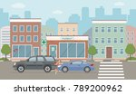 auto accident involving two... | Shutterstock .eps vector #789200962