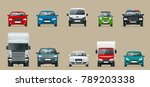 car front view set. vehicles... | Shutterstock .eps vector #789203338