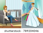 a vector illustration of woman... | Shutterstock .eps vector #789204046