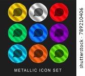 speech bubble 9 color metallic... | Shutterstock .eps vector #789210406