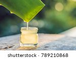 transparent essence from aloe... | Shutterstock . vector #789210868