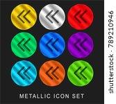 two left arrows 9 color... | Shutterstock .eps vector #789210946