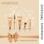 gift set of cosmetics for st.... | Shutterstock .eps vector #789213142