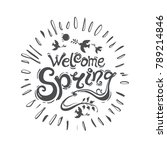 welcome spring   round template ... | Shutterstock .eps vector #789214846