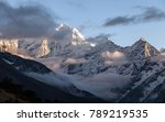 mountains in himalayas  nepal ... | Shutterstock . vector #789219535