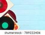 festive postcard frame.... | Shutterstock . vector #789222406