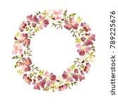 wreath made of gentle red... | Shutterstock . vector #789225676