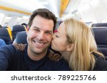 young handsome couple taking a... | Shutterstock . vector #789225766